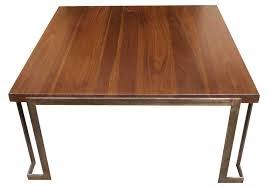 coffee table modern metal and wood coffee table mortise tenon sets