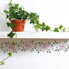 Wallpaper Borders For Girls Bedroom Border Stencils Rose Border Stencil Royal Design Studio Stencils