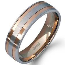 men s wedding bands simon g white and gold two tone men s wedding ring