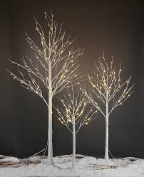 Twinkling Christmas Tree Lights Canada by Amazon Com Lightshare 132l Led Birch Tree 8 Feet Home U0026 Kitchen