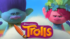 trolls movie poppy branch cloud guy coloring book pages video for