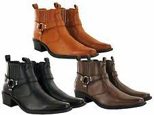 cowboy boots uk leather synthetic leather cowboy boots s footwear ebay