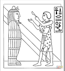 ancient egypt coloring page egyptian sarcophagus coloring page free printable coloring pages