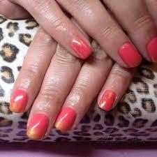 shellac nails glitter fade my shellac nail art pinterest blue