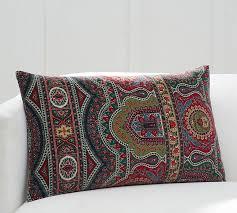 Pottery Barn Lumbar Pillow Covers Emira Paisley Lumbar Pillow Cover Pottery Barn