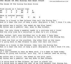 summer camp song the house of the rising sun alan price with