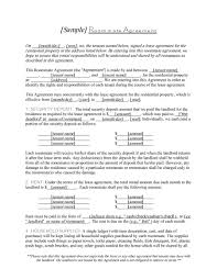 Agreement Templates Free Word S Roommate Contract Template Template Design