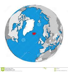 Iceland On World Map by Iceland On Globe Stock Illustration Image 83796357
