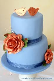 copper blue and an u0027i love you u0027 u2026first wedding anniversary cake