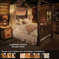 shining ideas rustic canopy bed rustic pine log canopy bed genwitch