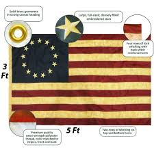 Stars On Chicago Flag Amazon Com Anley Vintage Style Tea Stained Betsy Ross Flag 3x5