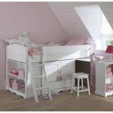 chambre combiné fille lit combiné blanc pour chambre d enfant pas cher lit commode