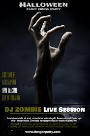 spirit halloween superstition springs halloween dj zombie night poster template click to customize in