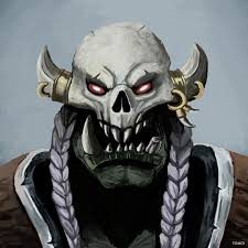 Warcraft Halloween Costume Painting Orc Laughing Skull Clan Worldofwarcraft