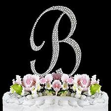 cake topper letters rhinestone cake topper letter b by other kitchen dining