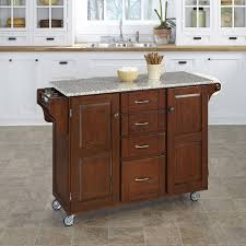 kitchen islands granite top august grove adelle a cart kitchen island with granite top