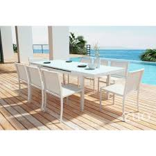 Frosted Glass Dining Room Table by Zuo Modern 703844 Mayakoba Extension Outdoor Dining Table In White