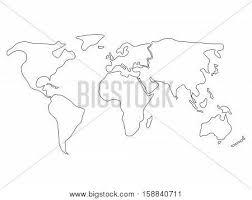 world map divided six continents vector u0026 photo bigstock