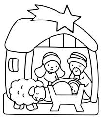 nativity coloring pages jesus goat coloringstar