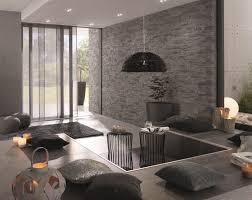steinwand wohnzimmer streichen 65 wand streichen ideen muster streifen und struktureffekte