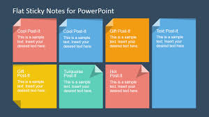 flat sticky note shapes for powerpoint slidemodel