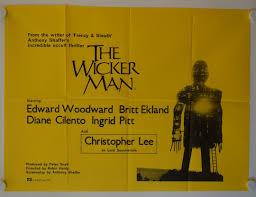 the wicker man original release british quad movie poster