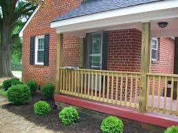 attractive black metal front porch railing fences for your home