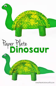 paper plate dinosaur kids craft i heart arts n crafts