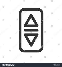 elevator lift buttons icon simple flat stock vector 455971063