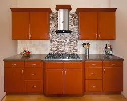 cool stainless steal is focal point for kitchen cabinets with