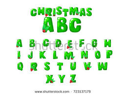 monster font green scary letters alphabet stock illustration
