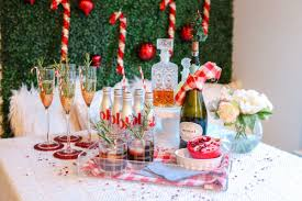 christmas cocktail party decor christmas party drink station the southern style guide