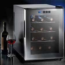 pro idee küche glas weinklimaschrank für 8 flaschen oder 12 flaschen