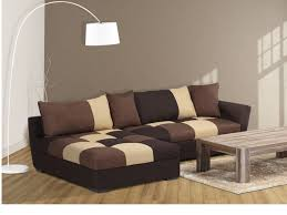 tissu pour canapé d angle canapé angle convertible en tissu gris ou chocolat romane