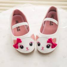 Kids Comfortable Shoes Girls Cat Cartoon Bowknot Elastic Princess Flat Shoes Casual