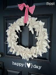 Valentine S Day Front Door Decor by 109 Best Rag Wreaths Images On Pinterest Rag Wreaths Valentine