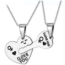 love drop necklace images Couples key to my heart stainless steel pendant love necklaces jpeg
