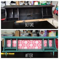 upcycled hutch becomes beautiful storage bench u2013 a happy hue
