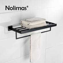 Black Bathroom Towel Bar Online Get Cheap Bathroom Towel Rack Black Aliexpress Com