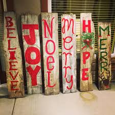 Cheap Outdoor Christmas Decorations by Christmas Signs For Your Porches Made Out Of Old Barn Wood Cheap