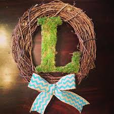 diy moss covered letter dwell with dignity