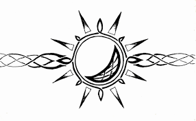 moon and sun drawing celtic sun and moon armband by mrbobafett on