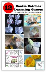 dltk thanksgiving games cootie catcher template and learning games