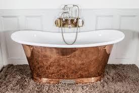 royal copper bath with white interior chadder u0026 co