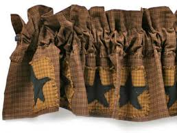 Primitive Kitchen Curtains Country Star Kitchen Curtains Designs Mellanie Design