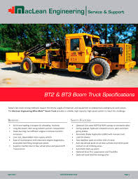 bt3 boom truck maclean engineering pdf catalogue technical