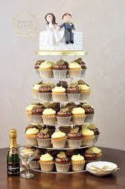 wedding cupcake tower wedding cupcake tower with and groom