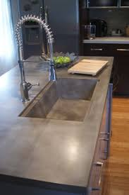 Countertop Kitchen Sink Concrete Countertop Concrete Countertops Pinterest