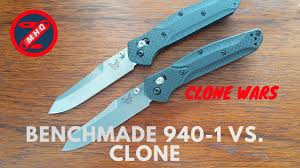 fake benchmade 940 1 vs real clone wars youtube
