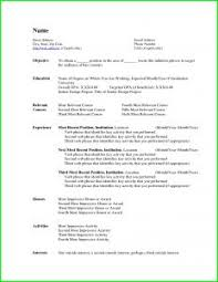 Sample Resume Format In Canada Free Resume Template Microsoft Word Resume Template And